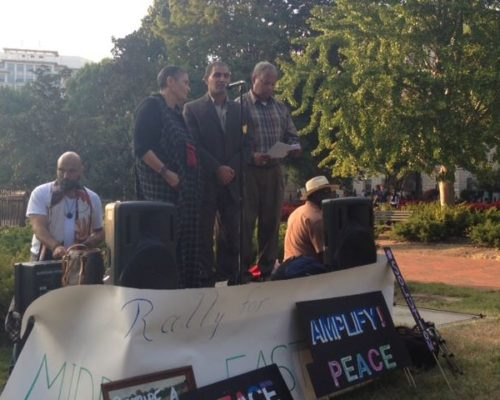 Middle East Peace Rally and Vigil White House