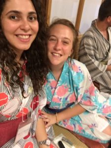 Hiba and Ruthi Grossman in Japan, Parents Circle Youth Peace Delegation