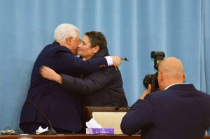 Robi Damelin and President Abbas