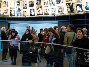 A cohort of Parallel Narrative Experience participants visiting Yad Vashem