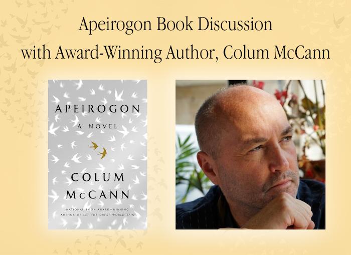 Webinar: Apeirogon Book Discussion with Colum McCann