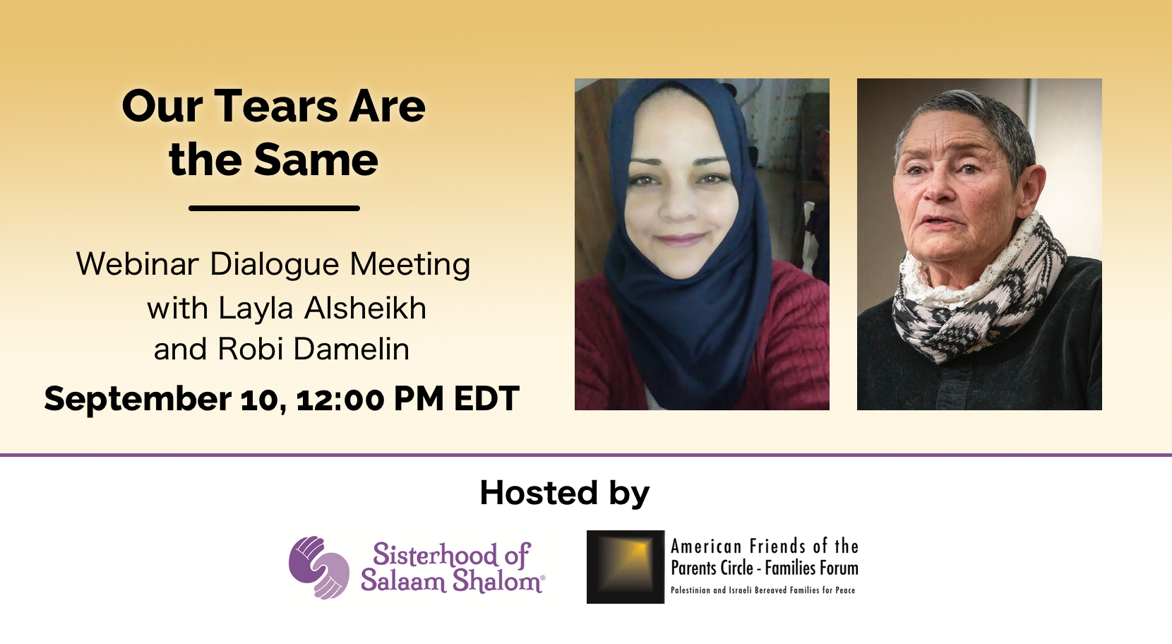 Webinar recording: Our Tears Are the Same