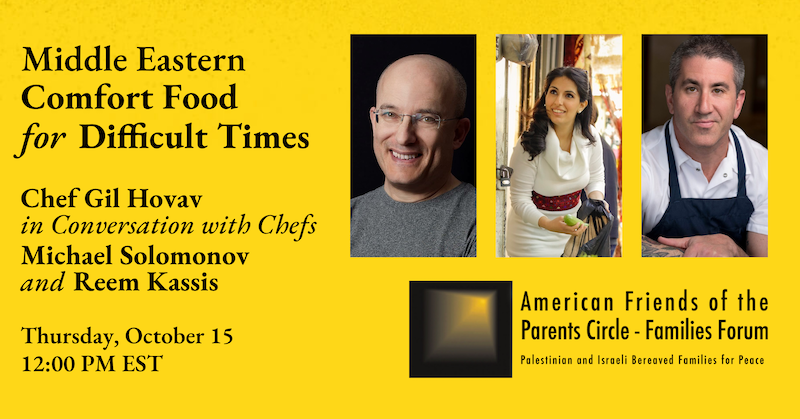 Webinar Recording available: Middle Eastern Comfort Food for Difficult Times