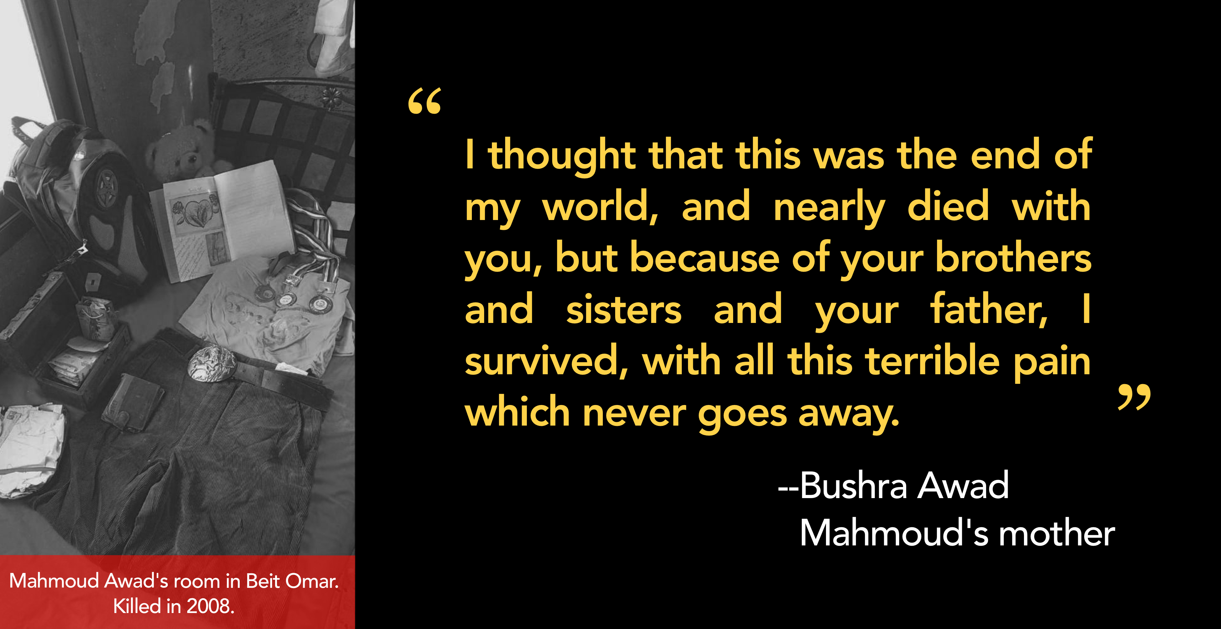 A letter to my son, Mahmoud, killed in 2008
