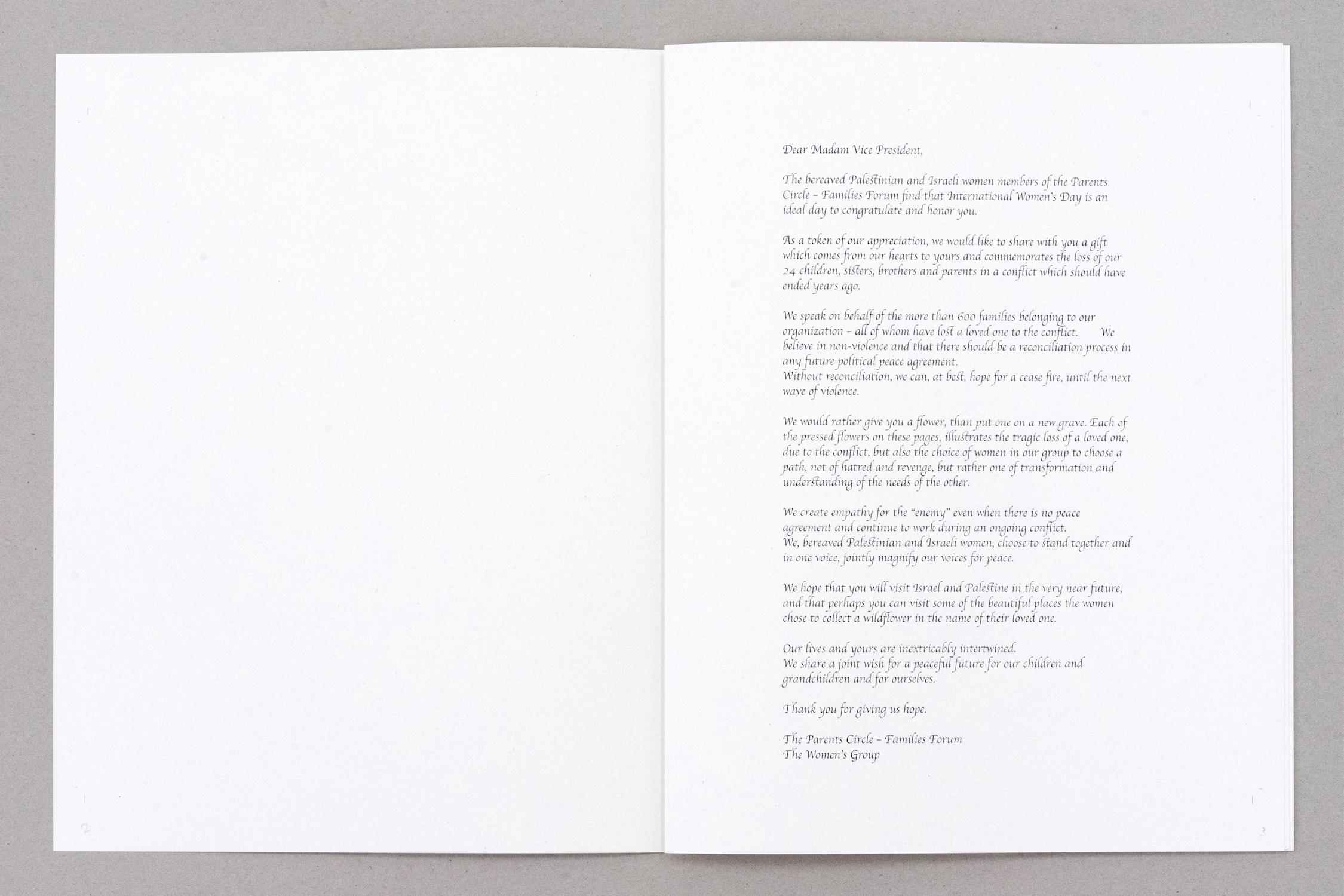 Letter to US Vice President Kamala Harris
