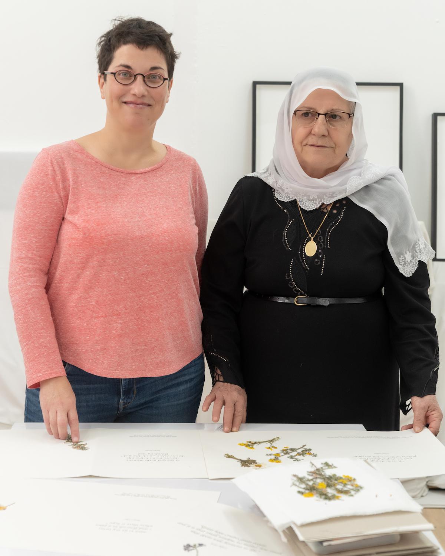 Bereaved Israeli daughter, Meytal Ofer (left) and bereaved Palestinian mother, Salma Zeidan (right)
