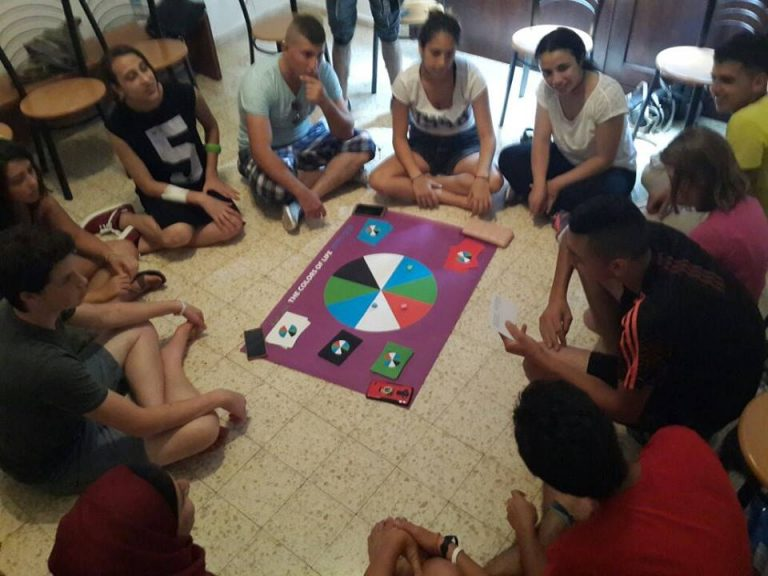 """""""The Colors of Life"""" board game, designed by PCFF staff as a team building exercise"""