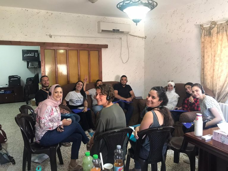 Palestinian and Israeli staff prepping for the upcoming 2021 Youth Peace Camp