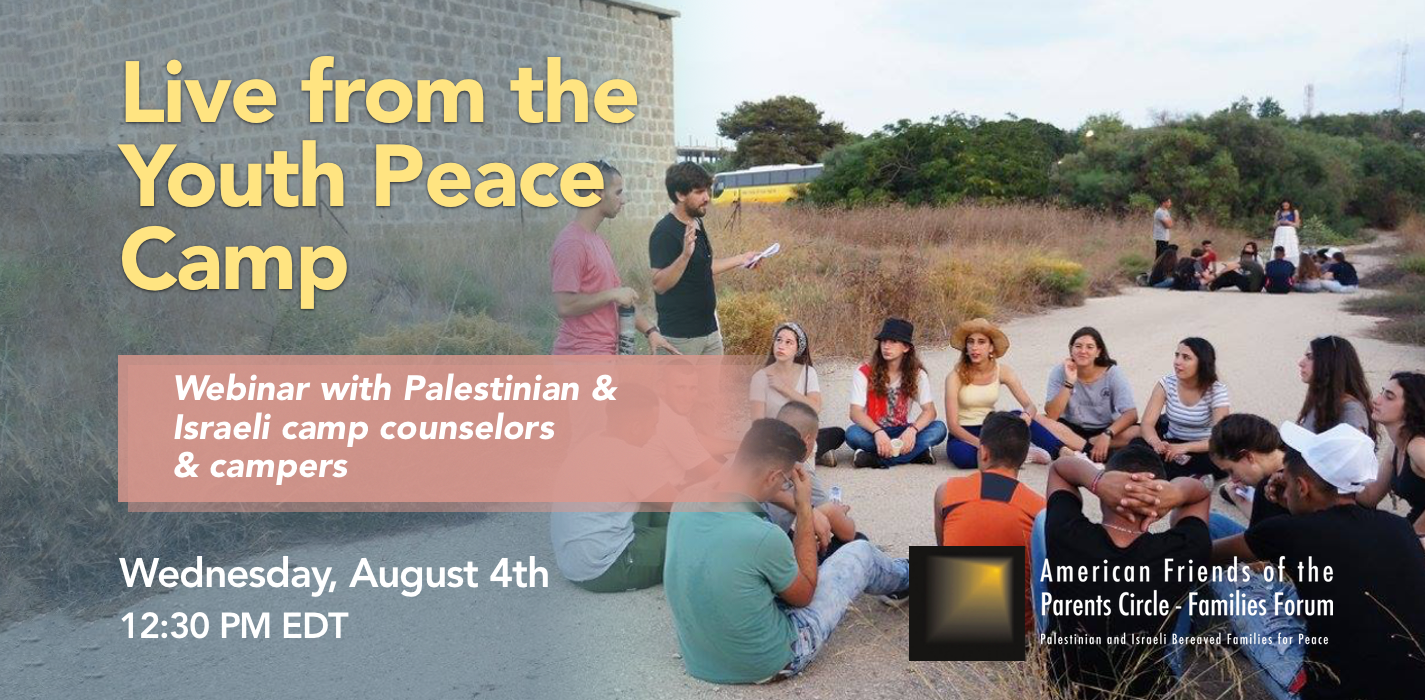Webinar Live from the Youth Peace Camp